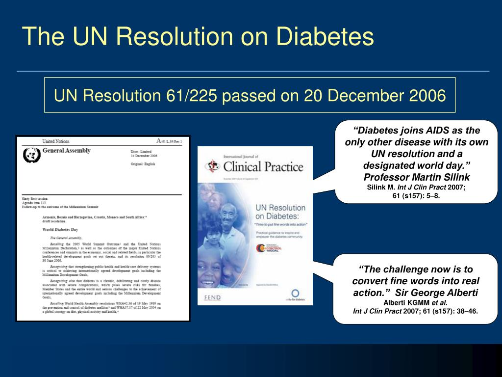 The UN Resolution on Diabetes