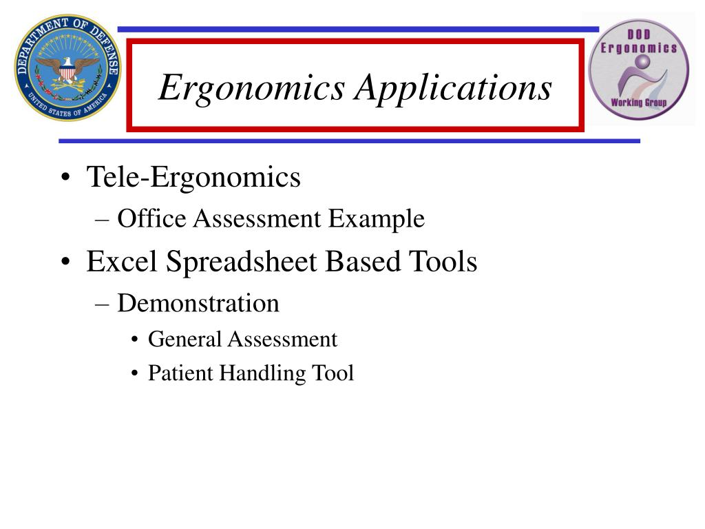 Ergonomics Applications