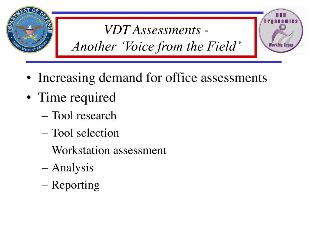 VDT Assessments -