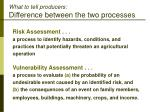 what to tell producers difference between the two processes