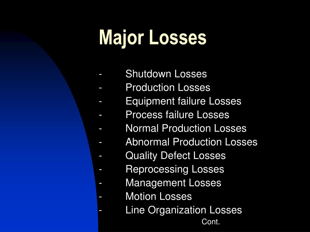 Major Losses