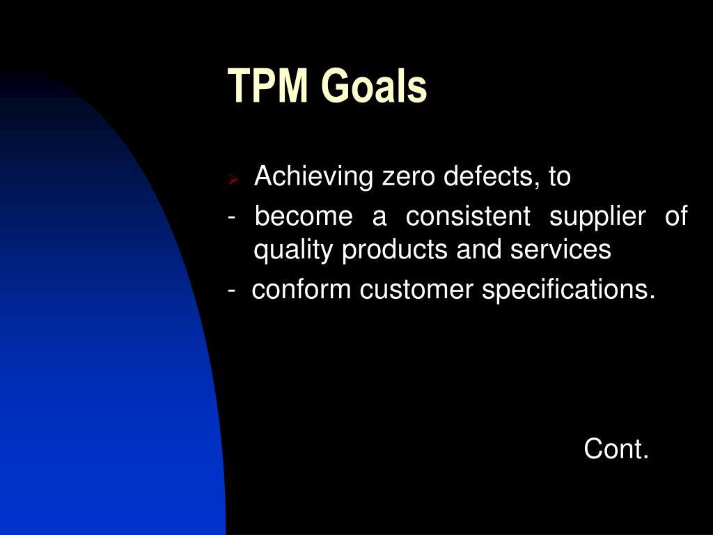 TPM Goals