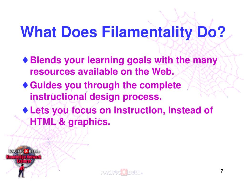 What Does Filamentality Do?