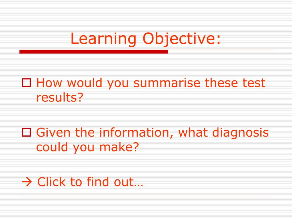 Learning Objective: