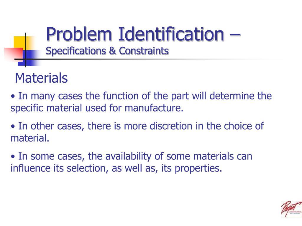 Problem Identification –