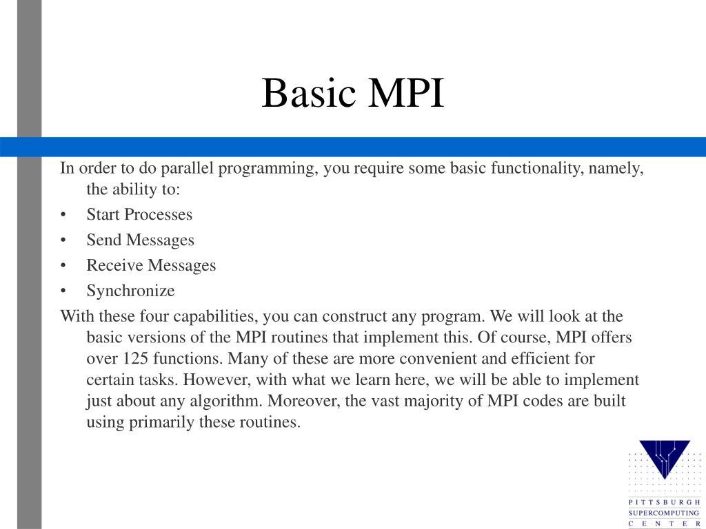 Basic MPI