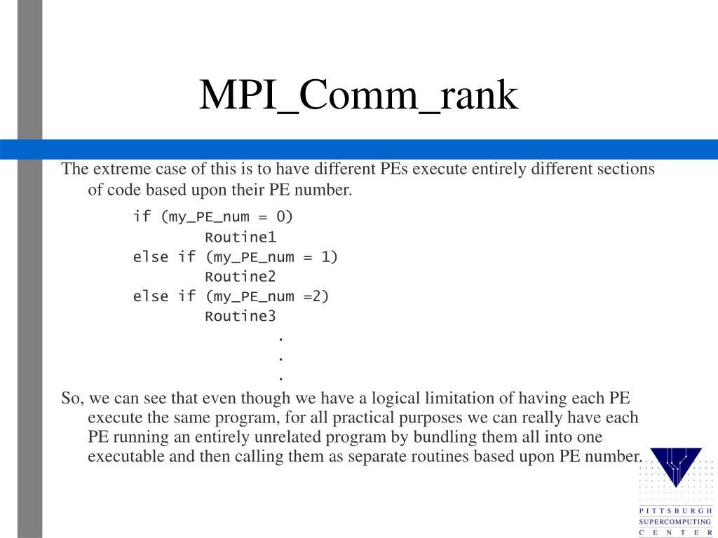 MPI_Comm_rank