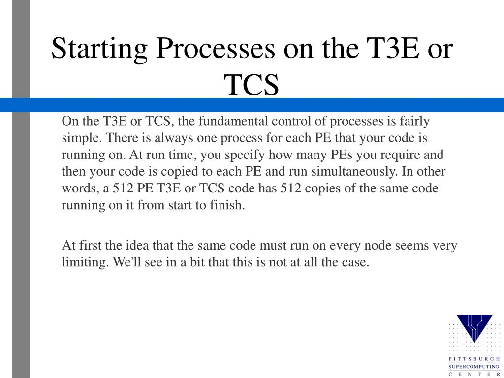 Starting Processes on the T3E or TCS