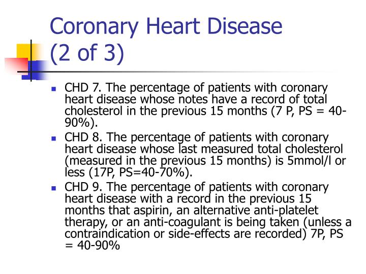 Coronary heart disease 2 of 3