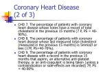coronary heart disease 2 of 3