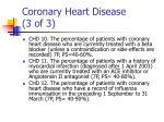coronary heart disease 3 of 3