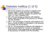diabetes mellitus 1 of 5
