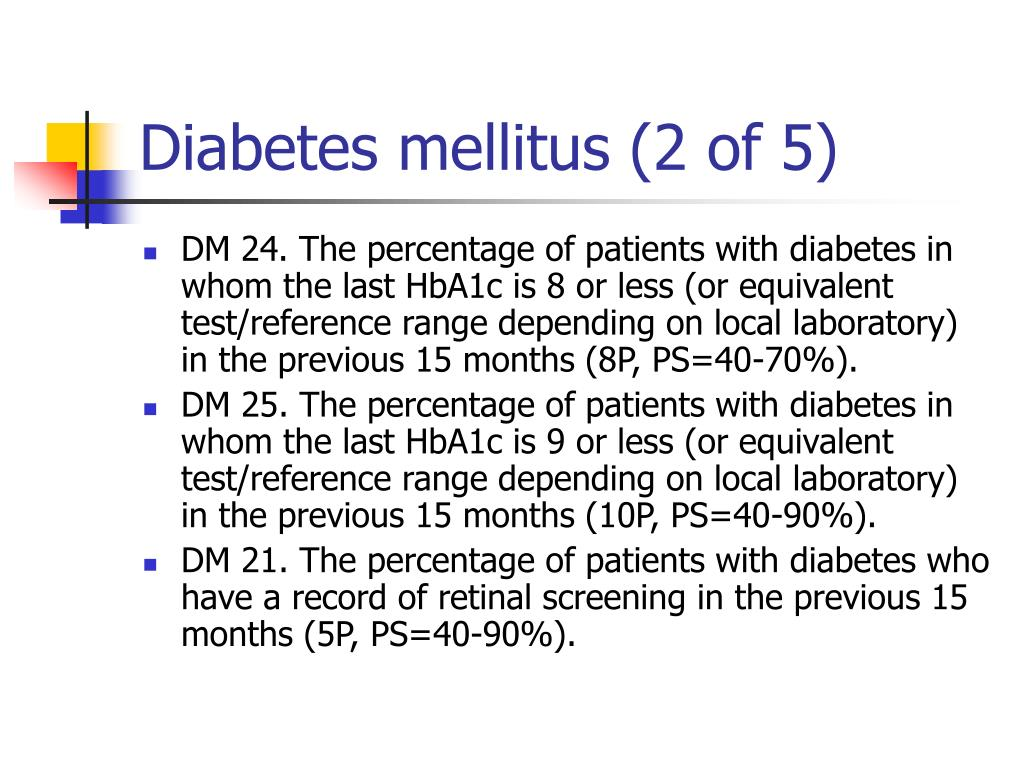 Diabetes mellitus (2 of 5)