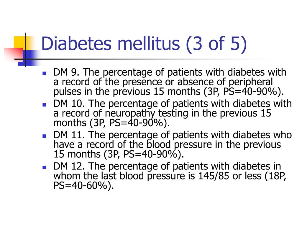 Diabetes mellitus (3 of 5)