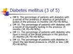 diabetes mellitus 3 of 5