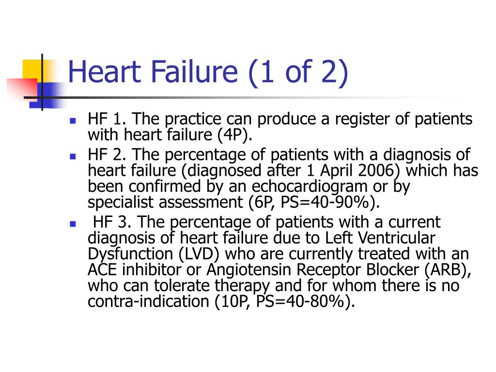 Heart Failure (1 of 2)