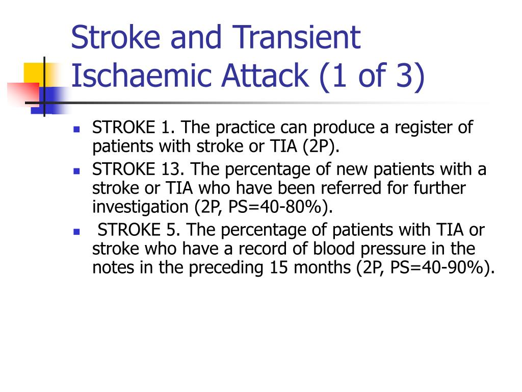 Stroke and Transient Ischaemic Attack (1 of 3)