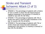 stroke and transient ischaemic attack 2 of 3