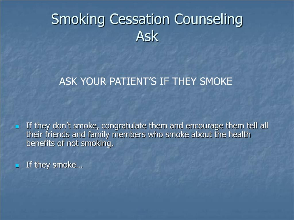 Smoking Cessation Counseling