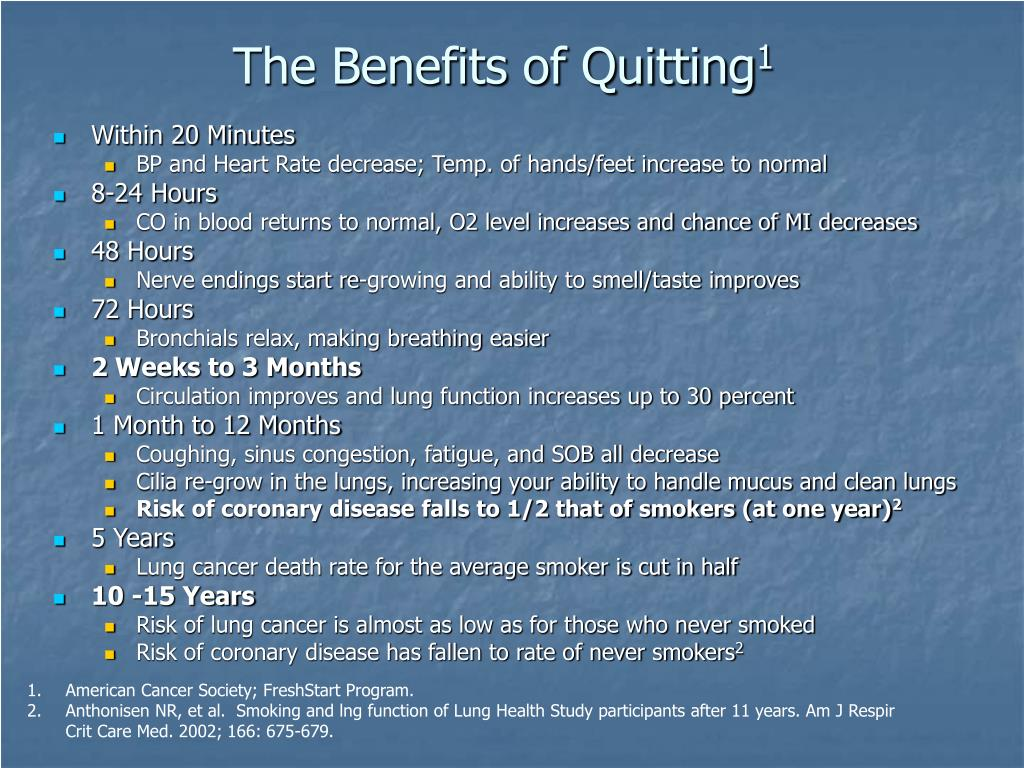 The Benefits of Quitting