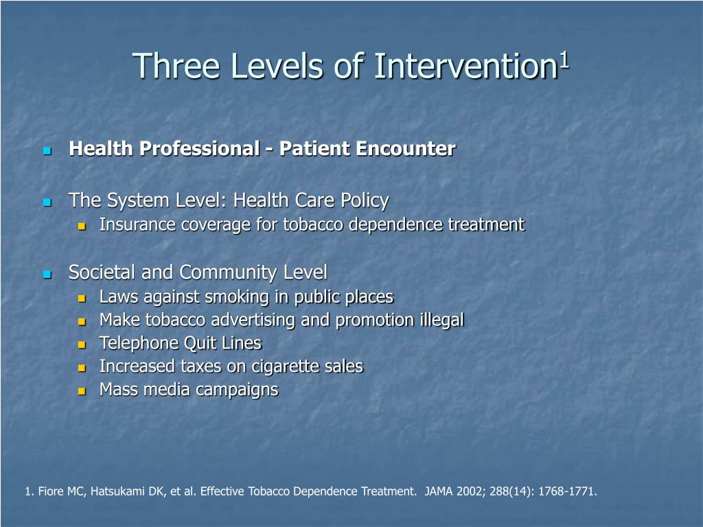 Three Levels of Intervention