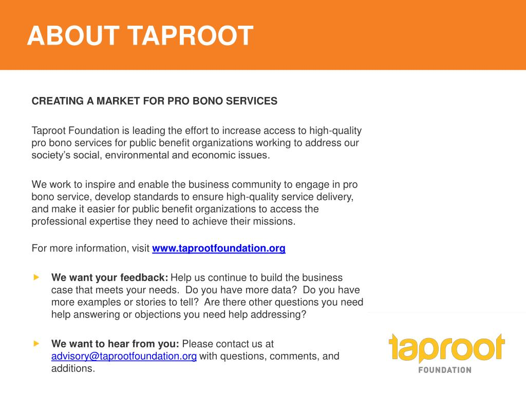 ABOUT TAPROOT