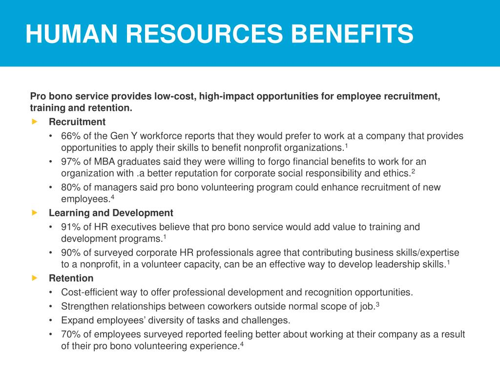 HUMAN RESOURCES BENEFITS