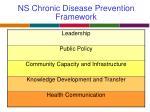 ns chronic disease prevention framework