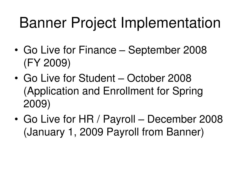 Banner Project Implementation