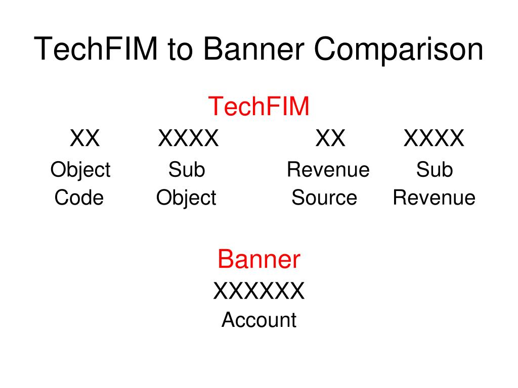 TechFIM to Banner Comparison