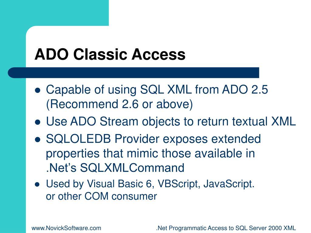 ADO Classic Access