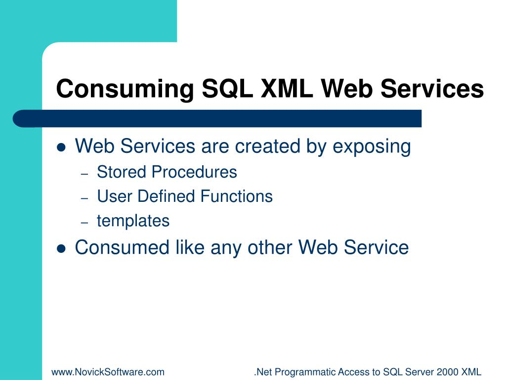 Consuming SQL XML Web Services
