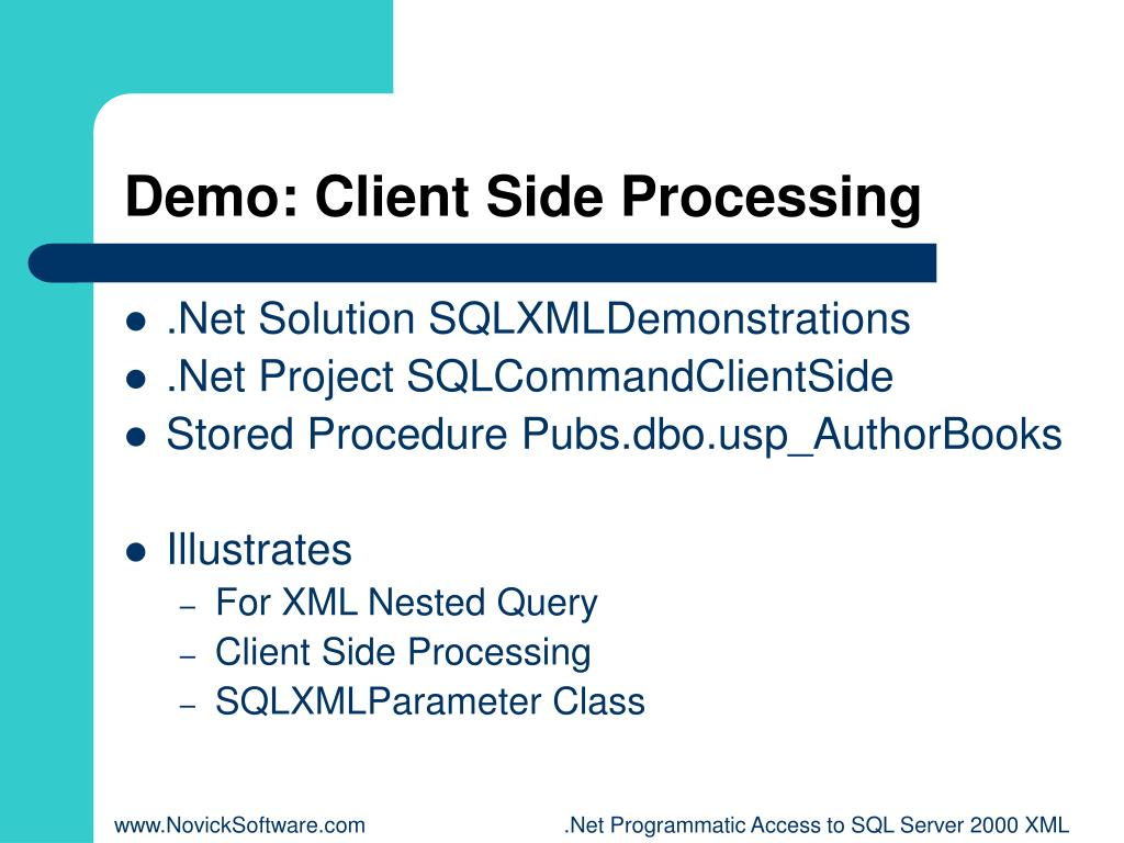 Demo: Client Side Processing