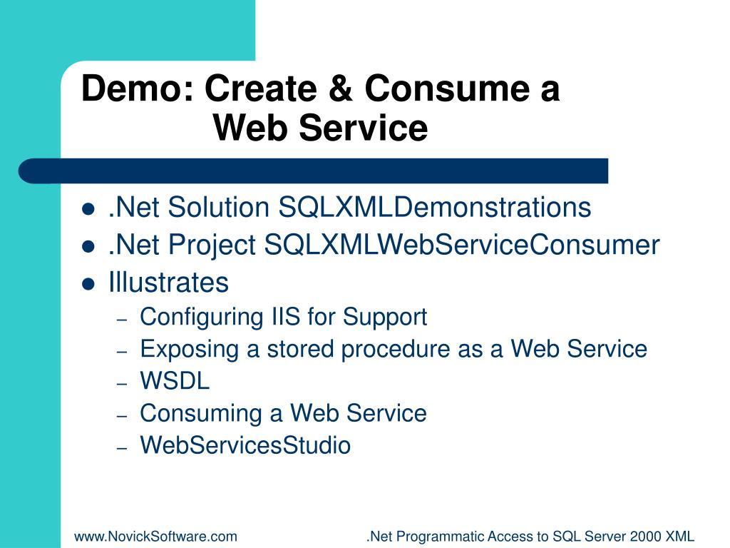 Demo: Create & Consume a