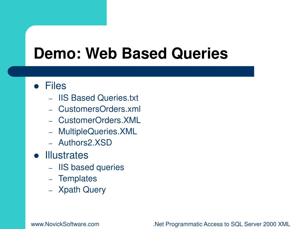 Demo: Web Based Queries