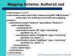 mapping schema authors2 xsd