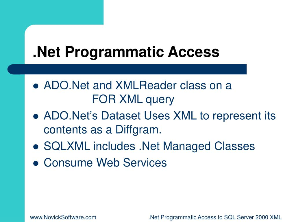 .Net Programmatic Access
