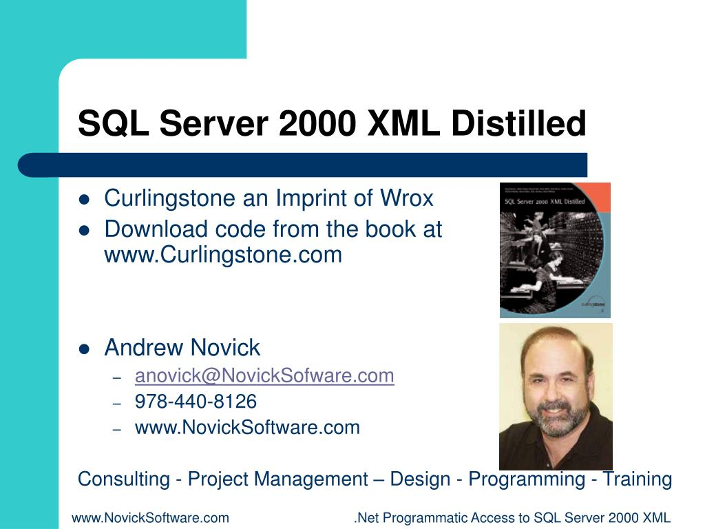 SQL Server 2000 XML Distilled