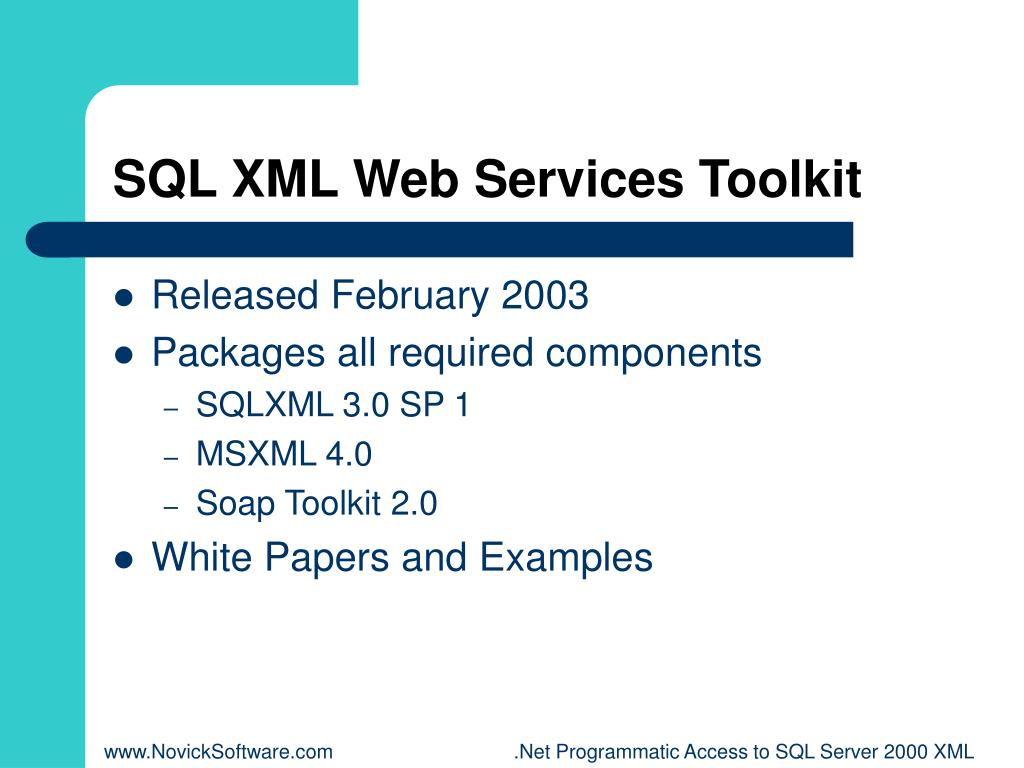 SQL XML Web Services Toolkit