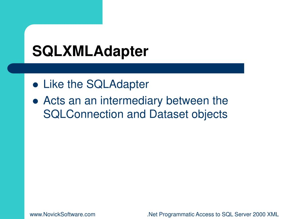SQLXMLAdapter