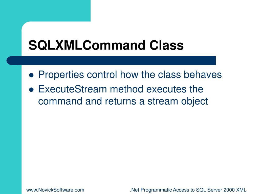 SQLXMLCommand Class