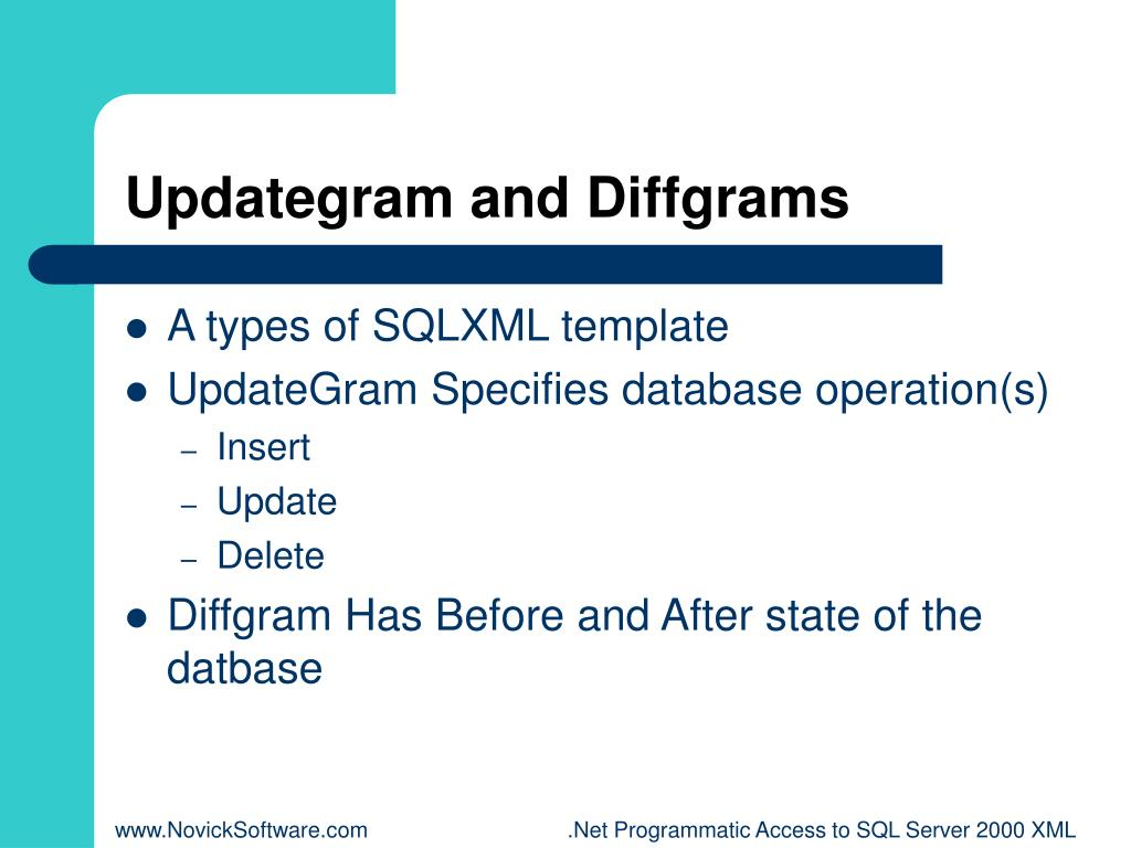 Updategram and Diffgrams