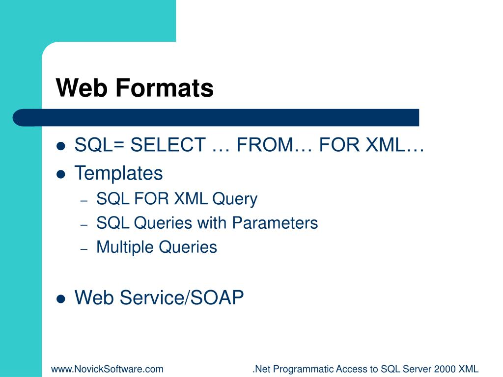 Web Formats