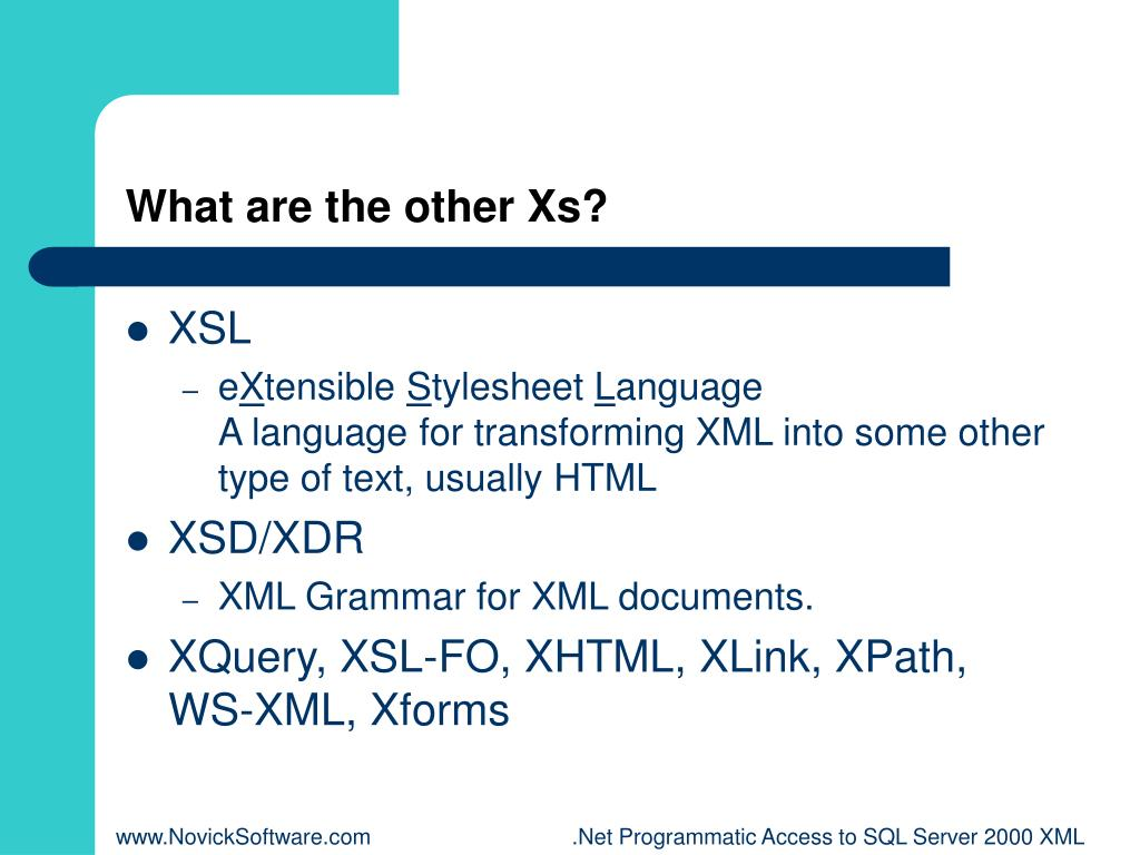What are the other Xs?