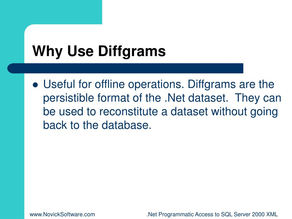 Why Use Diffgrams