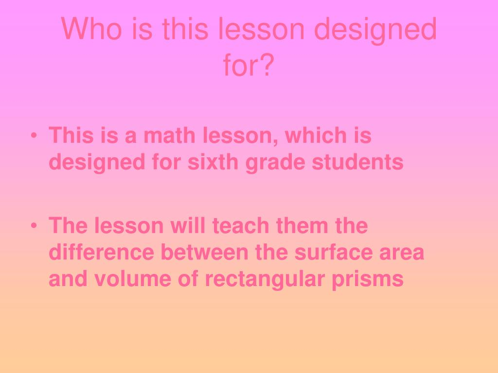 Who is this lesson designed for?