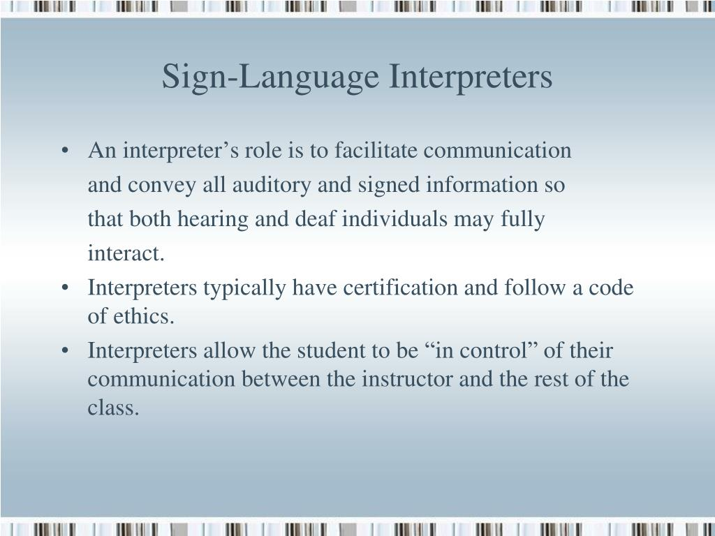 Sign-Language Interpreters