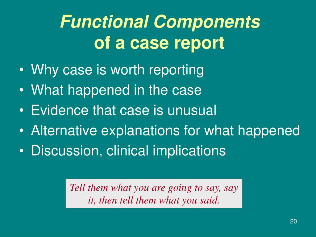 Why case is worth reporting