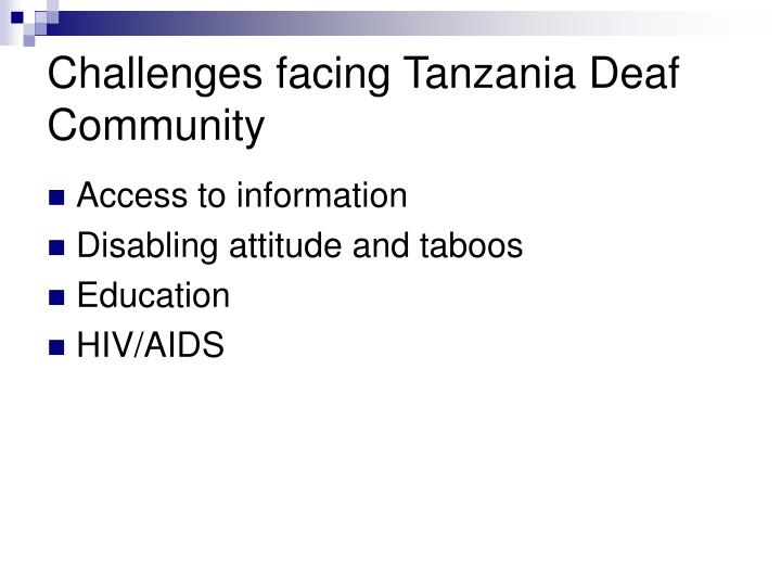 Challenges facing tanzania deaf community