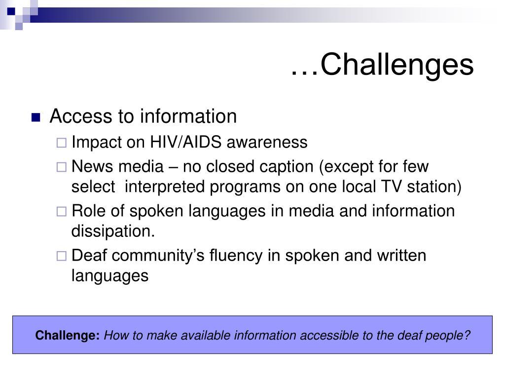 …Challenges